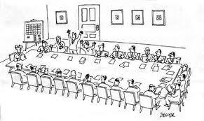 assemblea riunione bw