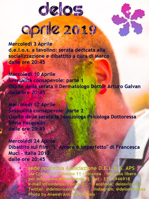 programma attività delos aprile 2019