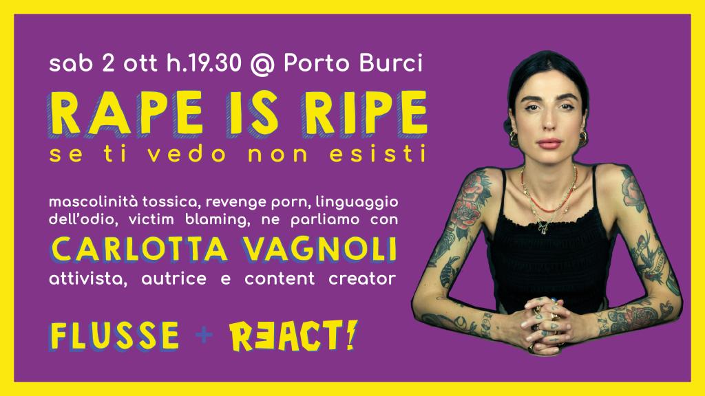 flusse 5 rape is ripe @ Porto Burci + Dj Set